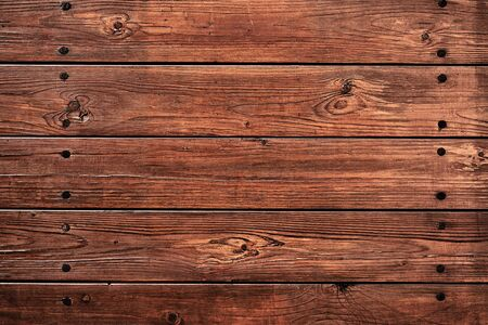 Top view background of old wooden boards with space for text.