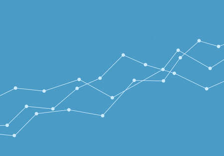 Illustration of a blue line growing graph component. Suitable as a background for a banner about stock trading and the economy. Space for your text - vector