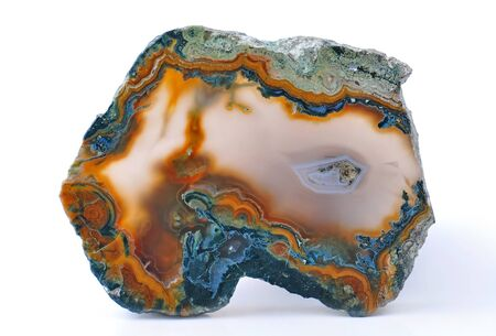 polished: Agate with natural colors, polished cut