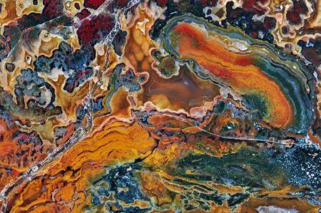 quartzite: Agate with natural colors, polished cut