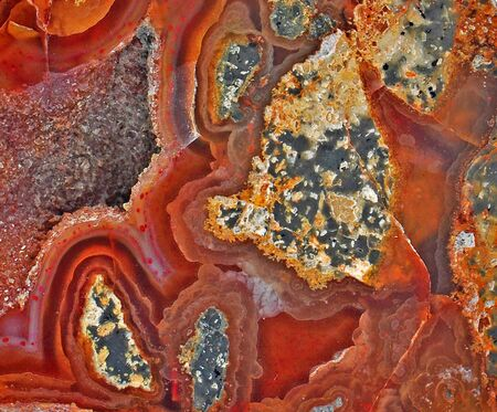 carnelian: Carnelian and minerals, with beautiful colors