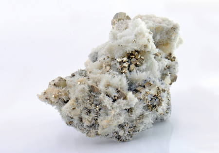 Quartz crystals beautiful pyrite cubes