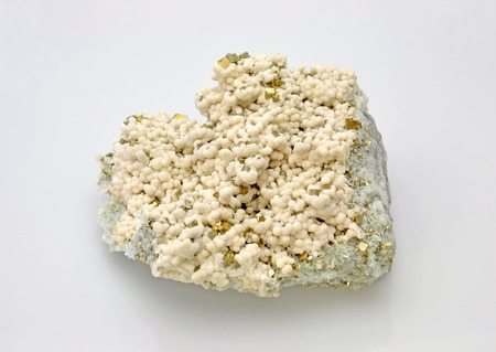 calcite: Pyrite with a beautiful shell of calcite Stock Photo