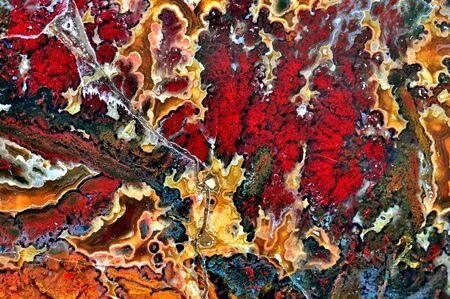 Agate mit natürlichen Farben, poliert Schnitt