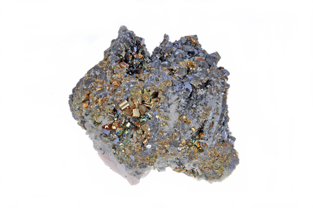 bismuth: Beautiful cluster of pyrite, quartz, galena, quartz pink