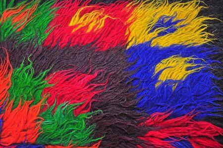 segmento: Segment of handmade carpets in bright colors