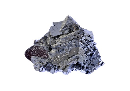 bismuth: Galena, beautiful forms with metallic luster Stock Photo