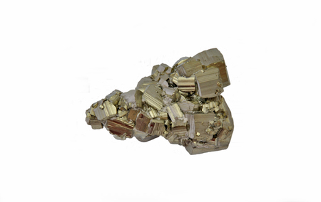 pyrite: Pyrite and chalcopyrite, beautiful single large cubes