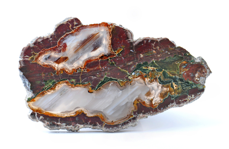 inclusions: Agate with natural colors, polished cut