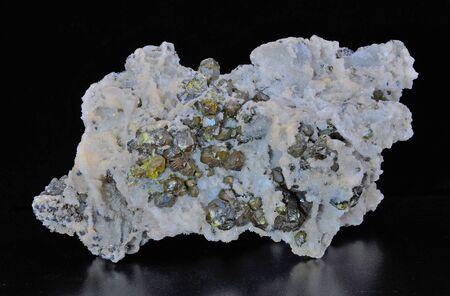 Brilliant zinc blend crystals, Sphalerite in quartz matrix