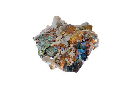 Pyrite ,calcit and chalcopyrite, beautiful cubes