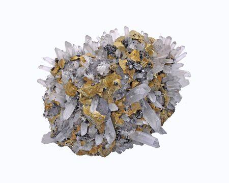 Quartz, Agglomerate Chalcopyrite, Galena and Bornite