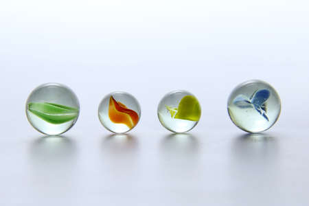 colourfully: Colored marbles in different shades