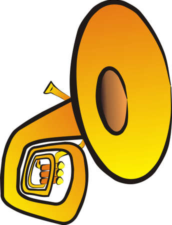 tuba: tuba isolated illustration