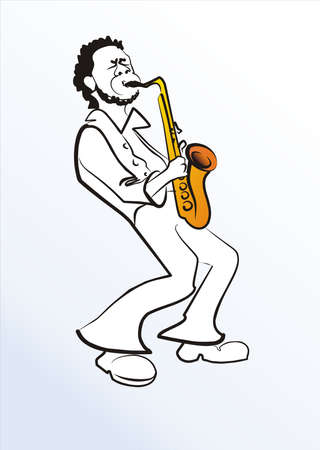 soloist: black man with saxophone