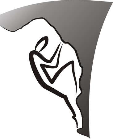 rock logo: hombre est� aumentando al aire libre