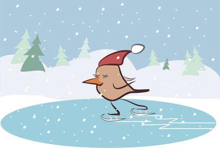 bird on winter vocation