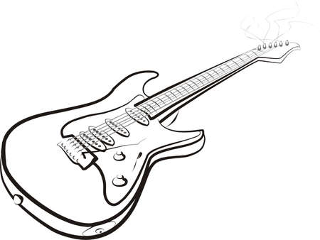 electroguitar isolated illustration