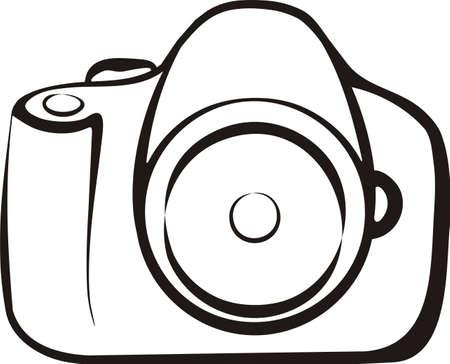 foto camera geïsoleerd illustratie Stock Illustratie