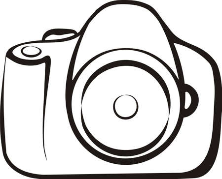 photo camera isolated illustration Stock Vector - 8339308