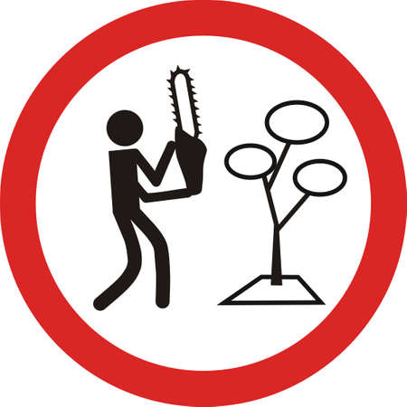 traffic sign of no cutting trees Stock Vector - 8339314