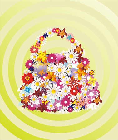 bag made of flower illustration Stock Vector - 8339342