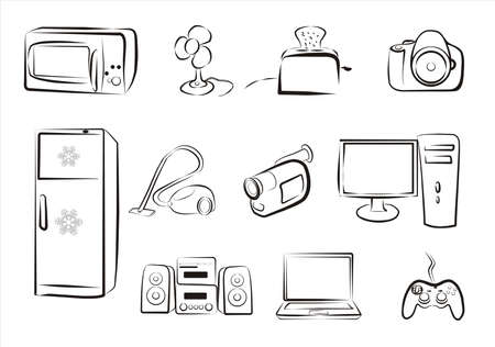 set of electric goods icons part 2 Vector