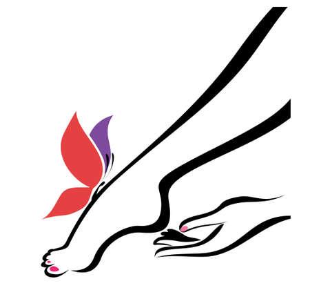 Mains et des pieds, soins du corps, l'illustration vectorielle Banque d'images - 22336496