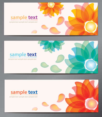 Flower vector background brochure template. Set of floral cards Stock Vector - 22336536