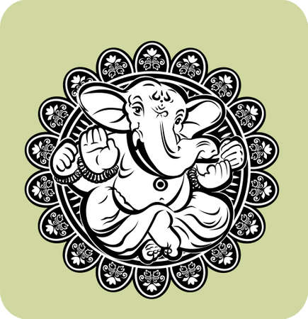 Creative illustration of Hindu Lord Ganesha Vector