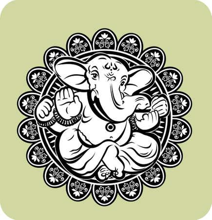 ganesha: Creative illustration of Hindu Lord Ganesha