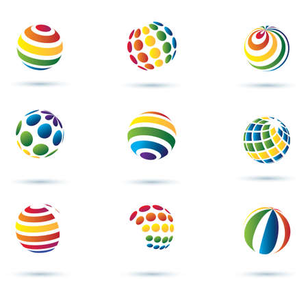 Abstract globe multicolor vector icons  Vector