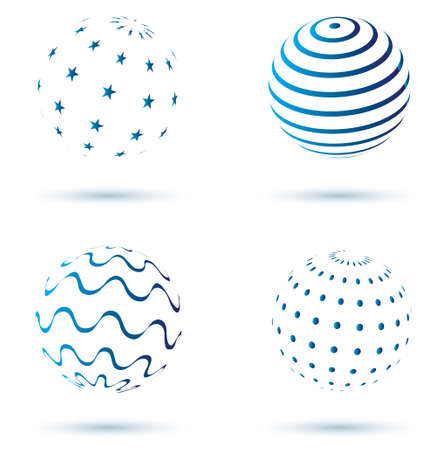 Abstract set of globe icons  Vector