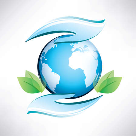 earth in human hands symbol