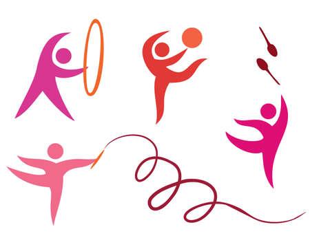 rhythmic gymnastics: Iconos del deporte, calistenia libres, gymnastycs