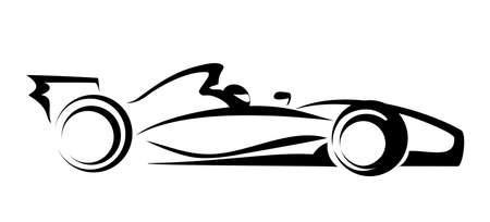 car side view: formula 1 symbol Illustration