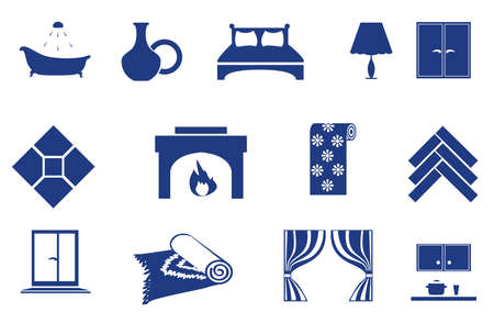 interior, home related icons Vector
