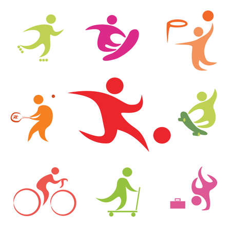 street sport icons collection Vector