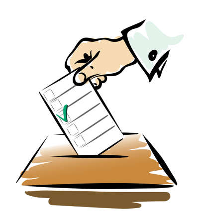 isilated: voting symbol isilated illustration
