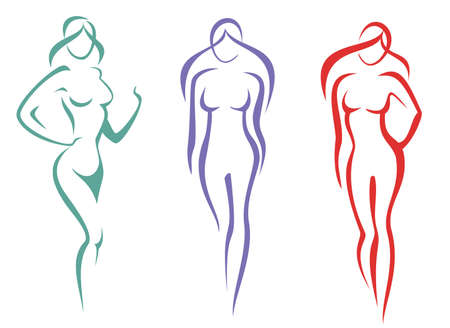 beauty, fashion concept. beautiful woman silhouette icon