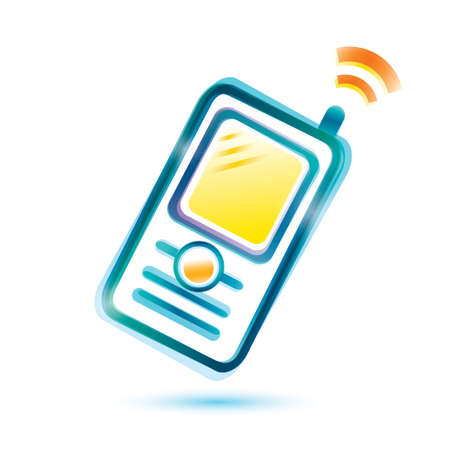 mobile phone glossy icon Vector