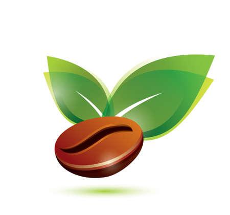 semilla de cafe: grano de café natural, estilizada icono Vectores
