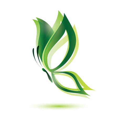 green butterfly: green butterfly, ecology concept, isolated  symbol