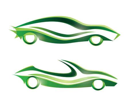 flown: sport car stylized icons set