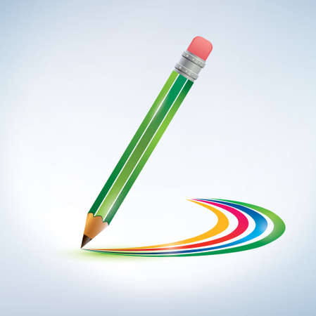 pencil drawing a rainbow Stock Vector - 22348496