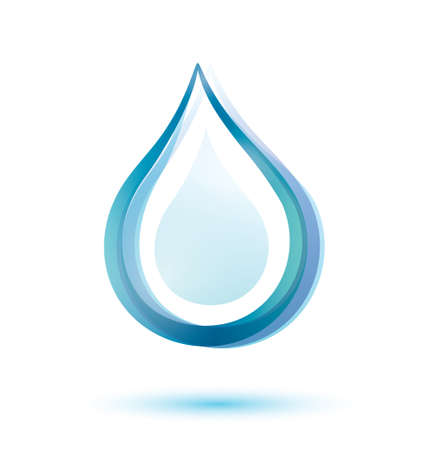 water surface: water drop isolated  symbol Illustration
