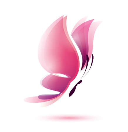 roze vlinder symbool