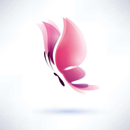 papillon rose: papillon rose symbole