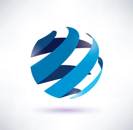 abstract globe symbol, isolated icon, internet and social network concept Stock Vector - 22348524
