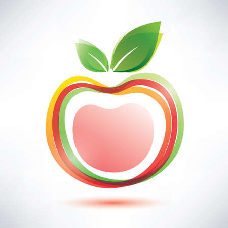 red apple symbol icon Stock Vector - 22348539
